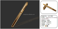 Shanghai factory advanced noble brass metal fountain pen golden nib