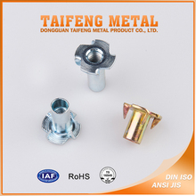 Furniture Hardware Half Thread M10 M12 T Nut with Prongs