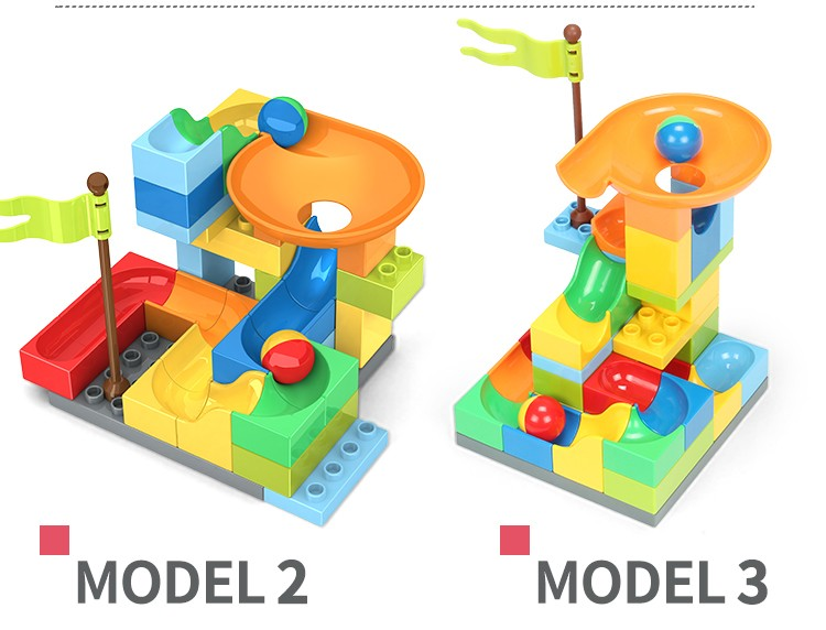 Plastic building toy 36P star traveller marble run blocks
