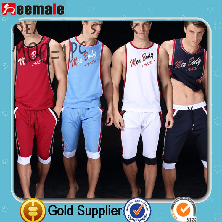 Free Sample Picture Of Men Undershirt Manview Underwear Brand In Vest with Logo SB01-1