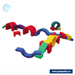 JT16-5003 Kids plastic combine train turnel physical training equipment for preschool