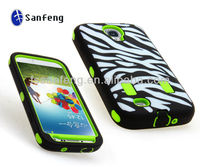 Paypal accepted best defender cover for samsung galaxy s4 zebra case/3 in 1 zebra fancy case for galaxy s4 i9500 parts