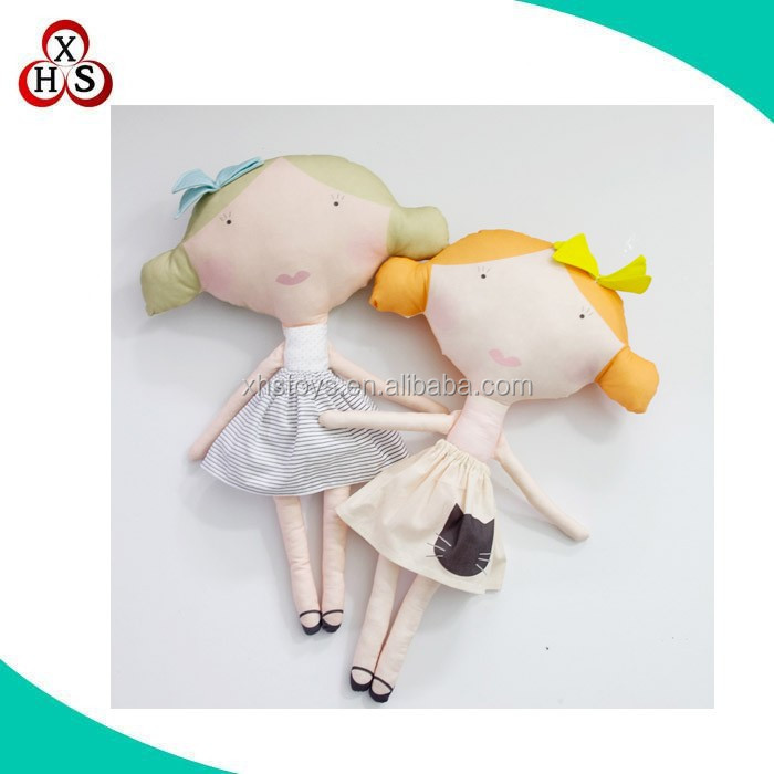 Custom stuffed cloth plush toy fabric soft cloth dolls