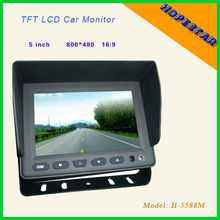 800*480 5 inch car seat monitor DC 12V with CE&RoHS