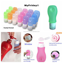 Silicone Jars Dab Wax Container/ BPA Free Portable Travel Size Refillable Tube Silicone Travel Bottle