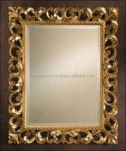 wooden hand carved mirror frame