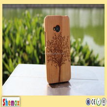 2015 High quality detachable design wood case for htc one me,For htc one me wood case