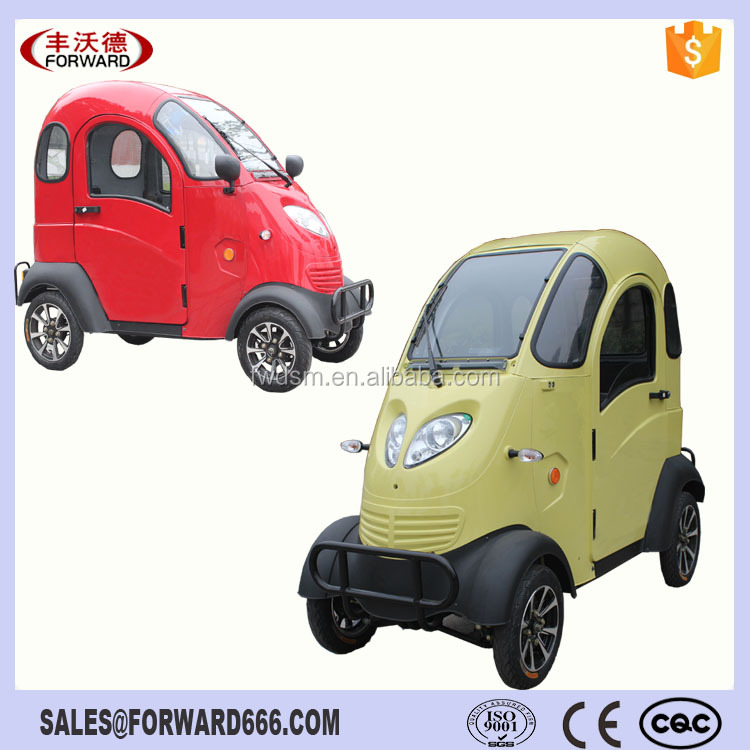 Enclosed Cabine 60V 120Ah Electric Motor Scooter