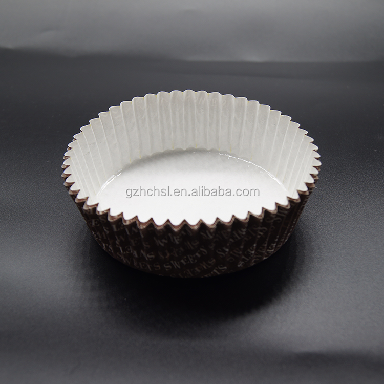Custom pattern Oven-Safe oil proof brown Paper Pleated muffin Baking Cups,Greaseproof Baking Paper Cup  Cupcake Wrappers Cupcake