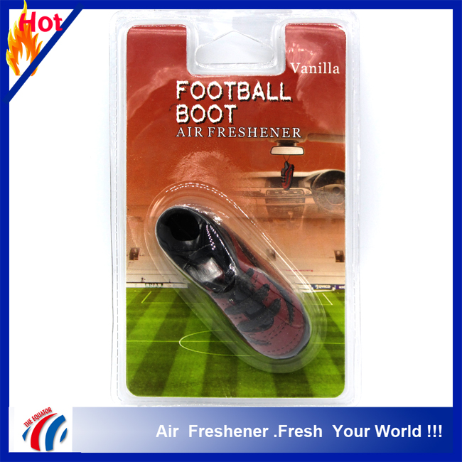 2016 New Top football boot shape Custom Hanging Car air freshener pendant choose your scent fragrance/manly fragrance oil scent