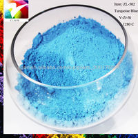powder coating ceramic Turqoise blue color