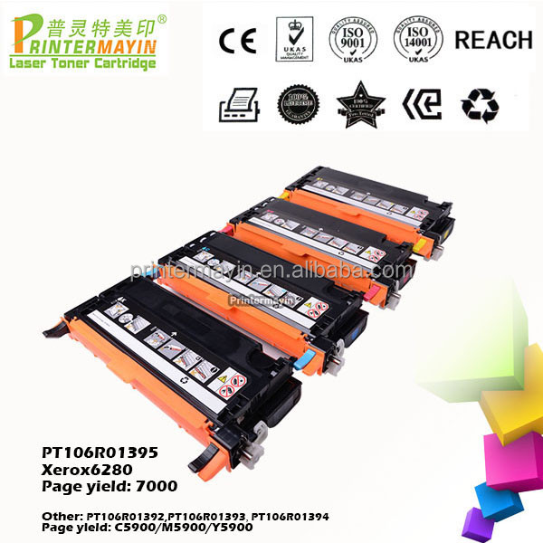 Laser Compatible CMYK Toner Cartridges for Xerox 6280 (PT106R01395)