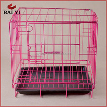 Hot Sale Folding Dog Crate Metal Pet Cage With Plastic Tray