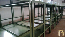 Alibaba China factory cheap metal prison double bunk bed