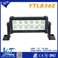 Economical super bright 36w led light bar low current draw lights bar trobe black color led light bar for most vehicle