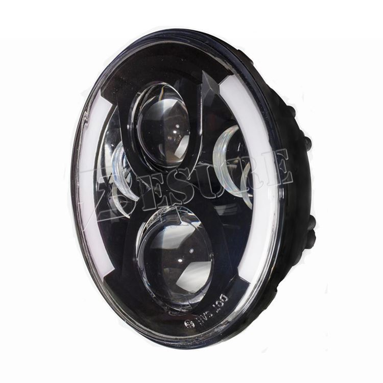 7 inch LED Headlight Black&Chrome H4/HB2/9003 LED Headlamp H13/9008 LED Daytime Running Light for Wrangler