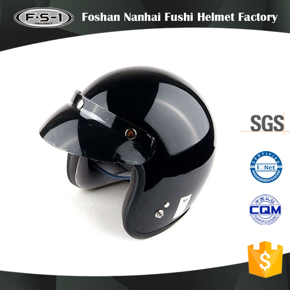 Customized black color Korean style half face scooter helmet for women motor helmets