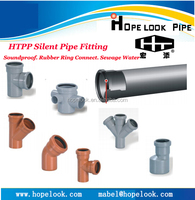 PVC PP silent pipe rubber ring fitting