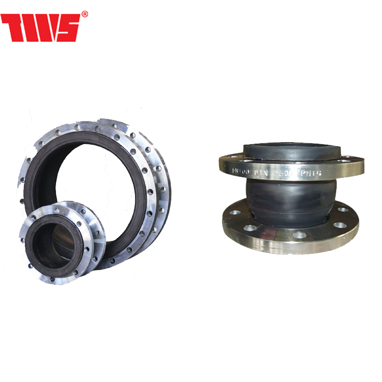 Flange ductile cast steel rubber bellows expansion flexible joint for pipe