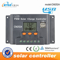 25A pwm solar voltage battery charger controller