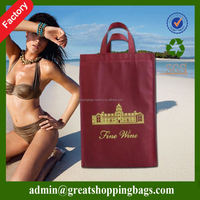 nonwoven reusable divided wine tote bag