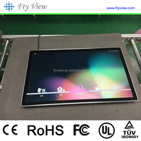 32 inch super thin led flat screen all in one touch wall mounted smart tv for advertising