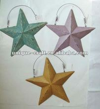 metal star decorative wall hanging
