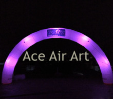 Free Air Blower Event promotion Inflatable arch/Inflatable lighting LED arch colorful light Archway With customized logo