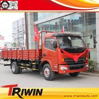 6 wheel 4x2 DFA1130L15D7 160hp 6 ton cheap light lorry cargo carry flatbed truck