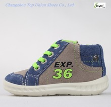 Classic comfortable fit cool suede oem/odm moq kids shoes PU injection waterproof shoes manufacture