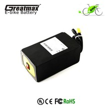 Rechargeable ebike battery 48V 10Ah lithium ion battery pack with safety switch