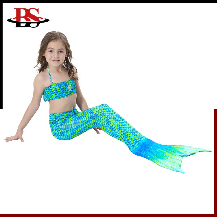 Cheap Factory Wholesale Mermaid Tails for Girls Swimming Brightly Green Mermaid Swimwear