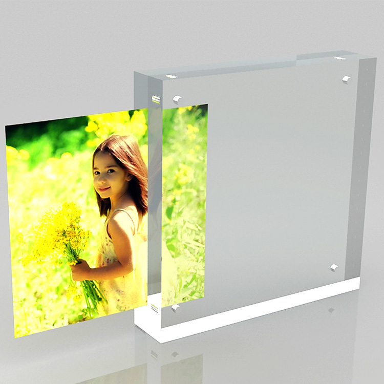Wholesale fashionable square clear magnetic acrylic photo frame