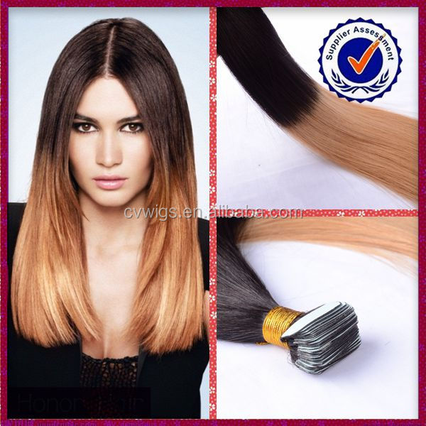 Best selling products cheap two tone ombre brazilian remy tape hair extension