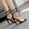 stiletto mature sexy women high heel sandals 2018 bandage fashion sandals ladies shoes