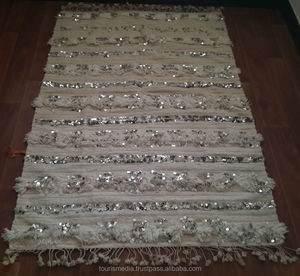 Vintage Moroccan wedding blanket 162cm x 114cm wholesale of handira