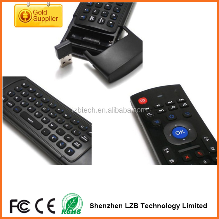 Two side Double keyboard Wireless MX3 mouse 2.4G Wireless Air Fly Keyboard Remote Controller mouse