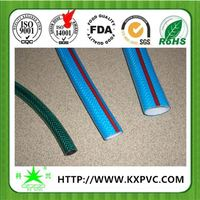 Nylon reinforced fabric flat garden hose from Changle China