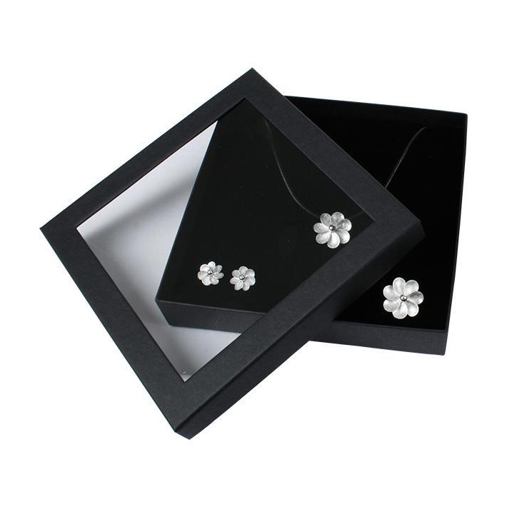 open window jewelry display box ring watch paper box