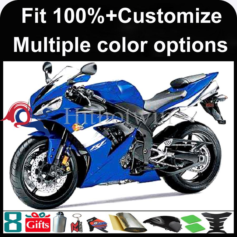 INJECTION MOLDING panels 2004 2005 2006 YZFR1 ABS Plastic blue Fairing For yamaha YZF-R1 2004 2005 2006 Fairing Fit YZF R1 2004