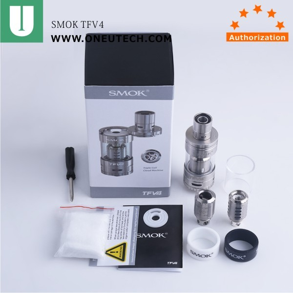 SMOK TFV4 sub ohm tank 4 coils available TFV4 tank with best price
