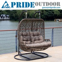 Luxury Outdoor Furniture Double Seat Hanging