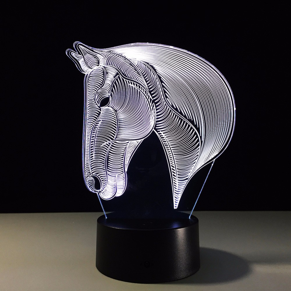 ZOGIFT 3D shark Night Light Acrylic clear acrylic lamp base 3d acrylic lamp base