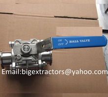 "Sanitary Stainless Steel 2"" Non Retention Tri Clamp Three Pieces Ball Valve"