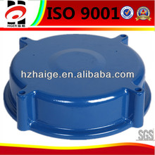 Bule painting aluminum sand casting sealed cover