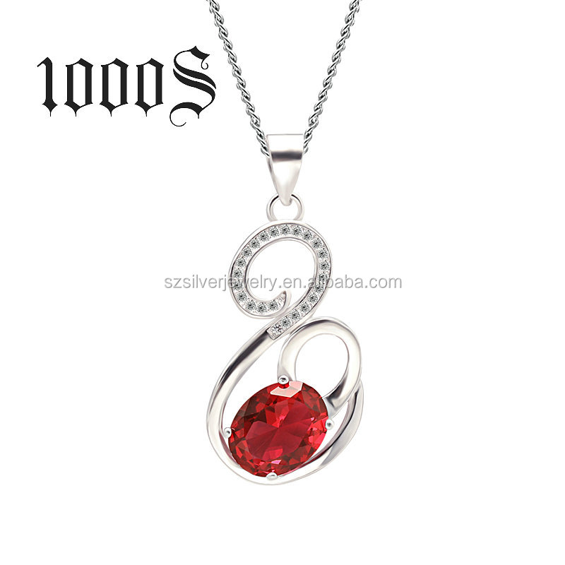 Wholesale Fashion Jewelry, Silver Gemstone Jewelry Pendant Necklace