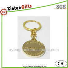 Hot sales cheap custom gold plated key chains for promotion