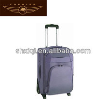 polyester soft newest trolley luggage suitcase for hotels