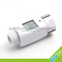LED shower temperature digital sensor display for shower head