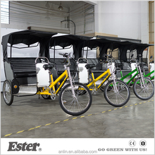 Electric passenger tricycle covered